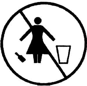 Women must not litter!