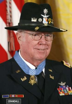 Lt. Col. Bruce Crandall at his Medal of Honor ceremony