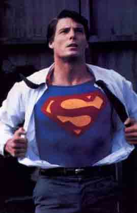 Beneath the mild-mannered man is the Superman!