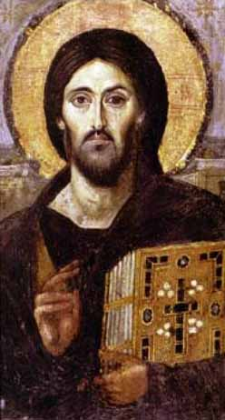 Icon of Christ at St. Catherine's Monastery in the Sinai.