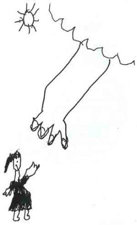 "Cheska's illustration of ""God, God, Hear mycry"""