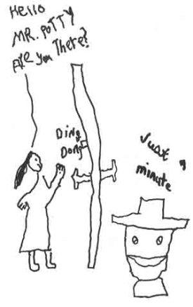 "Cheska's illustration of ""To My Fuzzy Daddy on his 50thBirthday"""